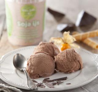Soja chocolade ijs