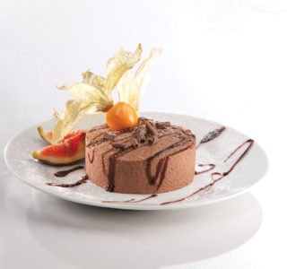 Rol chocolade bavarois