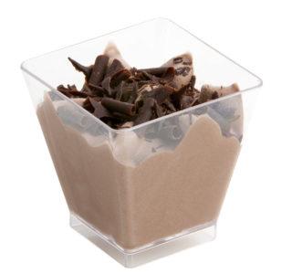 Mini glaasje Chocolade mousse