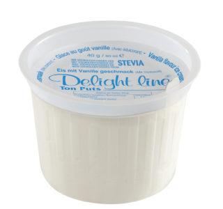 Mini beker vanille ijs, met zoetstof
