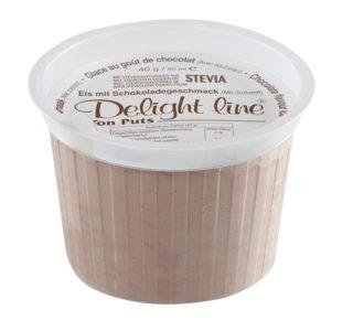 Mini beker chocolade ijs, met zoetstof