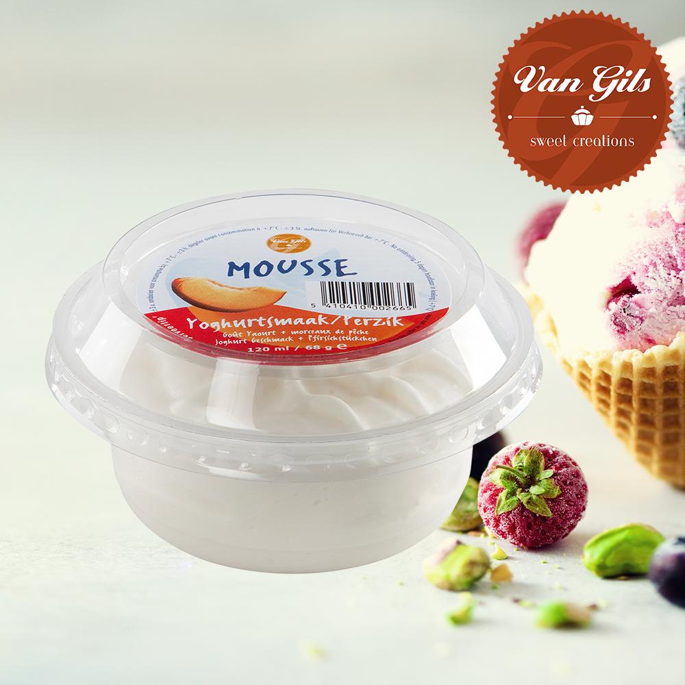 Yoghurt Perzik Mousse Dessert